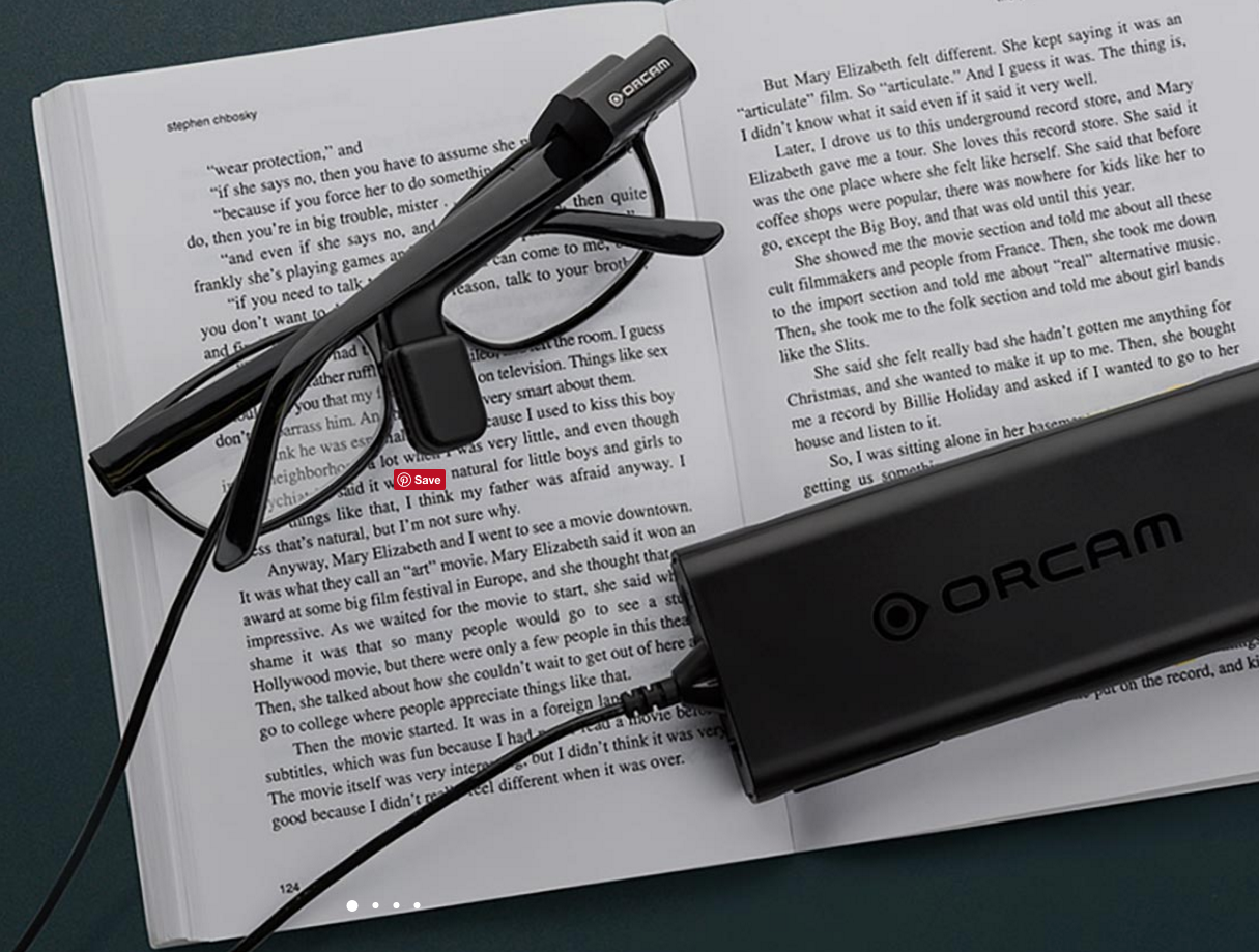 Orcam Myeye Converts Visual Information To Speech For