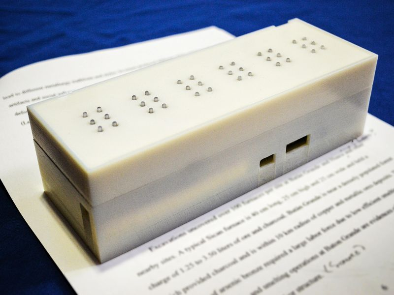 Quot Tactile Quot Converts Text To Braille In Real Time For Books
