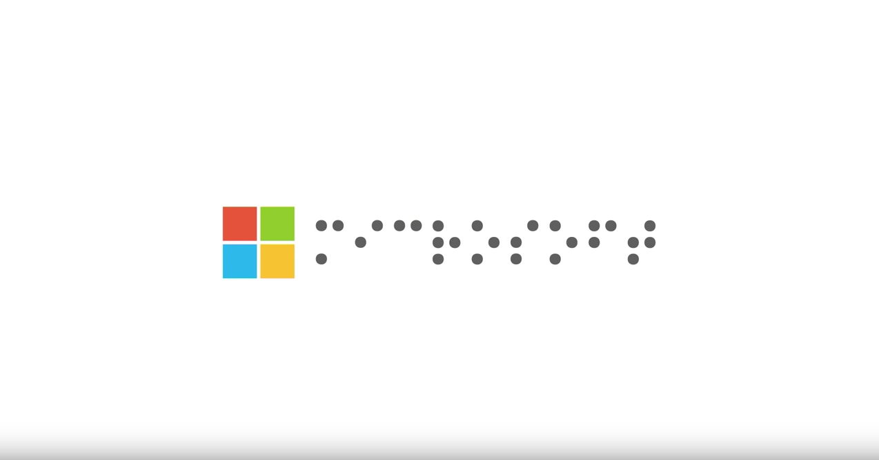 Microsoft Logo In Braille Assistive Technology Blog